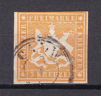 Wuerttemberg - 1859 - Michel Nr. 12 K3 - Gestempelt - Wurttemberg