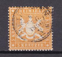 Wuerttemberg - 1860 - Michel Nr. 17 X K3 - Gestempelt - Wurttemberg