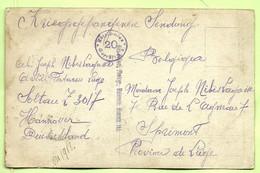 Foto-kaart Kriegsgefangenensendung Van SOLTAU ( Artillerie De Liege) Naar SPRIMONT (3668*) - Prisonniers