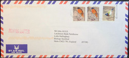 Hong Kong - Printed Matter Cover Lot (2) To England 2008 - 2009 Birds Franked To $2,40 - Kolibries