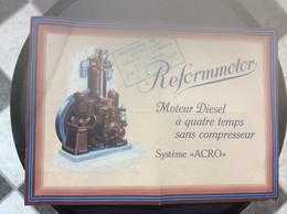 414 DOCUMENT COMMERCIAL  REFORMOTOR  Moteurs Diesel  CHARENTON - Cars
