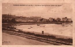 Perros-Guirec (Côtes Du Nord) Vue De La Rade Prise De L'Hôtel Des Bains - Edition Guégo - Carte De 1928 - Otros Municipios