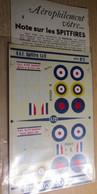 ABT21 Très Rare Décal Années 70 ABT : SERIE AEROPHILE N° 5 / SUPERMARINE SPITFIRE 1940-1941 - Transfer