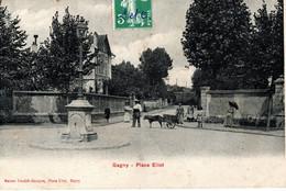 Carte Postale - GAGNY (93) - Place Eliot - Attelage De Chien - - Gagny