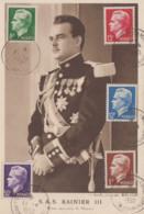 Carte  Maximum  1er  Jour   MONACO     Prince  RAINIER  III   1950 - Maximum Cards