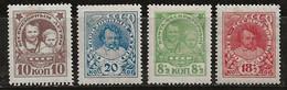 Russie 1926-1927 N° Y&T :  361 à 364 (fil.C) * - Ongebruikt