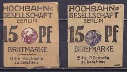 Allemagne - Lot De 2 Timbres-monnaie 15pf Violet Et Lilas (adhérence D'un Des Timbres Dans La Pochette) - Ongebruikt