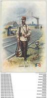 """WW Série L.V.C Par Léon Hingre 1915. Edition """" Le Gaulois """" Bergougnan. GARDE VOIE - Regiments"""