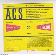 Au Plus Rapide Disque De Stationnement Automobile Club De Suisse - Publicidad