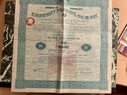 ROYAUME De YOUGOSLAVIE EMPRUNT FUNDING OR  5% 1933 -------- Obligation  De  500 Frs - Ohne Zuordnung