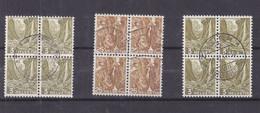 Suisse - Yvert 3 Blocs De 4 De 1936 -  Oblitérés - - Used Stamps