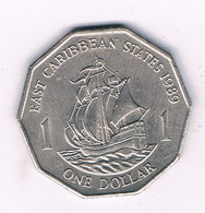 1  DOLLAR 1989 EAST CARIBBEAN STATES /6598/ - West Indies
