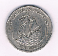 1  DOLLAR 2004 EAST CARIBBEAN STATES /6599/ - West Indies