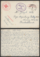 """Guerre 40-45 - Carte Manuscrite En Feldpost """"Plaatselijk Komiteit Van Turnhout"""" (1941) > Stalag II B / Croix-rouge - Cartas"""