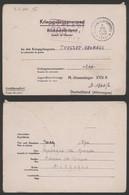 """Guerre 40-45 - Lettre Kriegsgefangenenpost + Obl Relais """"Matagne-la-grande"""" (1944) > Stalag XVII B / Cachet Pas Courant - Brieven"""