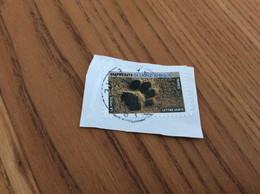 Timbre Sur Fragment «EMPREINTES DE LION D'AFRIQUE» - Used Stamps
