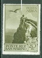Saint Marin  Sassone   A 48  * *  TB - Airmail