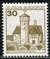 BRD - Mi 914 ✶✶ # - 30Pf Burgen & Schlösser - Unused Stamps