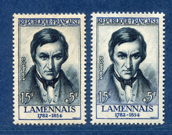 ⭐ France - Variété - YT N° 1111 - Couleurs - Pétouille - Neuf Sans Charnière - 1957 ⭐ - Varieties: 1950-59 Mint/hinged