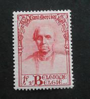 1932 : Cob 345*   Rouge :   (charnière D14) Voir Verso - Ungebraucht