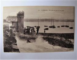 FRANCE - MORBIHAN - PLOEMEUR - LONEMER - Un Coup De Mer Sur La Jetée - Ploemeur