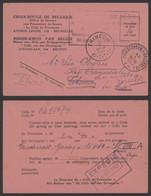 Guerre 40-45 - Carte Postale Croix Rouge De Belgique (Thiméon, 1942) En Provenance Du Stalag VIII A - Cartas