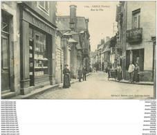 72 SABLE SUR SARTHE. Rue De L'Ile 1909 Coiffeur Et Librairie Gaudin - Sable Sur Sarthe