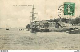 33 BLAYE. Estacade Et Gare Avec Bateau De Pêcheurs 1913 - Blaye