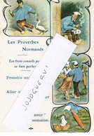Les Proverbes Normands , Expédié De Thury Harcourt ( Caen , Dives , Bayeux , Deauville, Lisieux ... - Non Classificati