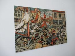 OY/ Gerestaureerde Reproductie Mechelen Mosselkaai  Alfred Ost 60 X 40 Cm Op Forex - Drawings