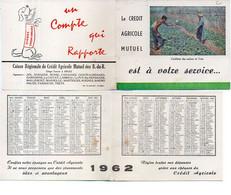 Calendrier Du Crédit Agricole Des Bouches Du Rhone - 1962 - Cueillette Des Melons De Crau    .(121993) - Small : 1961-70
