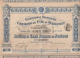 CHEMINS De FER Du DAHOMEY 1912 - Non Classés