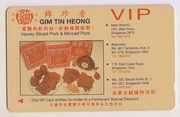 Singapore Old Phonecard Singtel Advertising Bbq Pork Used - Pubblicitari