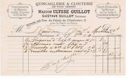 GIRONDE - BORDEAUX - Gustave GUILLOT - Quincaillerie, Ferrements, Pointes, Etc...Rue Du Palais De L'Ombrière - Autres