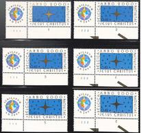 NB - [165367]TB//**/Mnh-Belgique 2000 - N° 2967-pl1/2+1/6, Jubilaeum A D, Avec Vignette (aussi Avec N° De Planche), Reli - 1991-2000