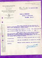 Bois Du Nord Pitchpins Scierie Mecanique MIGRAINE FRERES  HAVRE Courrier Du 28.09.1929 - A Prendre En L Etat Perforée - - 1900 – 1949