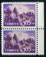Turkey 1959 Mi 1634 MNH Sandstone Cones And Caves Near Göreme   Tourist Publicity, Tourism [Pair] - Ungebraucht
