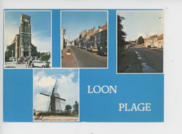 Loon-Plage (59 Nord) Multivues N°03 - Moulin à Vent église Grande Rue - Other Municipalities