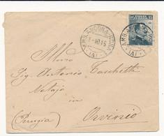 1915 AMBULANTE ANCONA -ROMA (A) X ORVINIO - Marcophilia