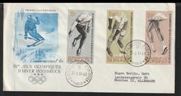 Burundi FDC 1964 Innsbruck Olympic Games - Bowed Cover (LE42) - Winter 1964: Innsbruck