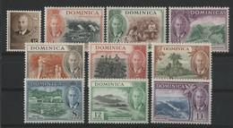 LA DOMINIQUE N° 117 à 126 ** (MNH) ENSEMBLE DE 10 VALEURS. TB - Dominica (...-1978)