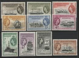 FALKLAND ET DEPENDANCES N° 51 à 60 Neufs ** (MNH) Cote 12,50 € Ensemble De 10 Valeurs. TB - Falkland