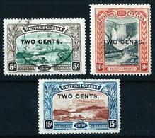 Guayana (Británica) Nº 93/95 (sobrecarga) - British Guiana (...-1966)