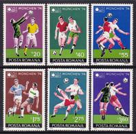 SERIE NEUVE DE ROUMANIE - COUPE DU MONDE DE FOOTBALL 1974 A MUNICH N° Y&T 2846 A 2851 - 1974 – West Germany