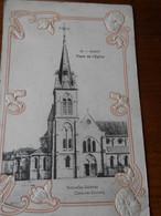 03 Vichy Place église  Col Nouvelles Galeries Entourage Gaufré  Style Art Déco - Vichy