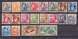 Germany - Saarland - 1947 Year _ Michel 206/225 - MNH - Unused Stamps