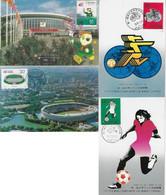 China 1989 / 1993 4 Maximum Card Sport Soccer Stadium - Otros