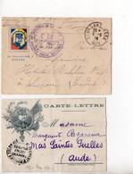Carte-lettre De Franchise Militaire 'Général JOFFRE' : Lot De 12 Différentes - WW I