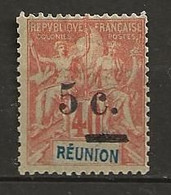 REUNION 1901 . N° 52 . Neuf * (MH) . - Unused Stamps