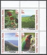 YY816 2017 TONGA FAUNA BIRDS PARROTS EUA NATIONAL PARK MICHEL 20 EURO 1SET MNH - Perroquets & Tropicaux